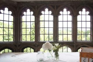 Monmouth Priory Geoffrey window