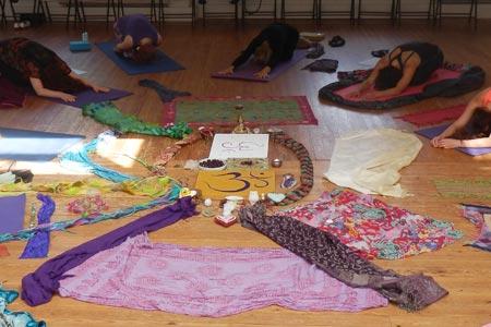 yoga class with Amanda Hamilton