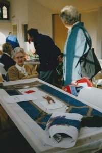 monmouth priory tapestry being made