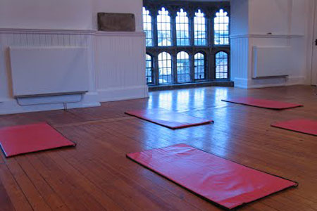 Geoffrey room with exercies mats
